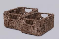 Úložný box KIM 27, vodní hyacint, natur, 2 ks
