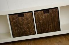 Úložné boxy TAO, dřevo/vodní hyacint, 32 cm, hnědé, 2 ks