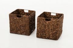 Úložné boxy WILD, vodní hyacint, 32 cm, hnědý