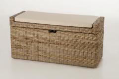 Sedací lavice s úložným prostorem COMBO, ratan, šířka 105 cm, odstín Koobo