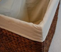 Truhla na prádlo DIVIDE, vodní hyacint, výška 55 cm, hnědý