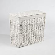 Elegantní truhla na prádlo GRAND, vrba, výška 60 cm, bílá