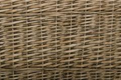 Koš na prádlo MIA, vrba, výška 65 cm, šedá