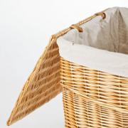 Koš na prádlo MIA, vrba, výška 56 cm, medová barva