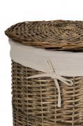 Koš na prádlo RONDO, vrba, výška 66 cm, šedý