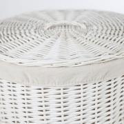 Koš na prádlo RONDO, vrba, výška 66 cm, bílý