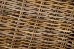 Truhla na prádlo DIVIDE, ratan, výška 55 cm