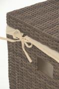 Elegantní truhla LEA, polyratan, šedá, 84 cm