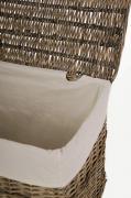 Truhla na prádlo LEA, vrba, šířka 70 cm, šedá