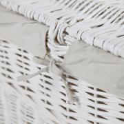 Truhla na prádlo LEA, vrba, šířka 80 cm, bílá