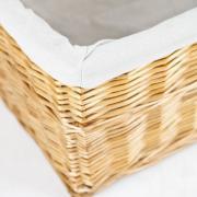 Truhla na prádlo LEA, vrba, šířka 80 cm, medová barva
