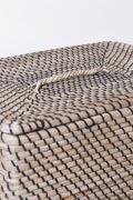 Koš na prádlo HOME, mořská tráva, výška 60 cm, natur/černá