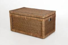 Elegantní truhla na prádlo JAVA, ratan, šířka 88 cm, natur
