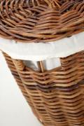 Kulatý koš na prádlo LINGO, 62 cm, hnědý