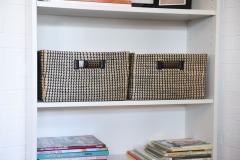 Úložné boxy BASKO, mořská tráva, šířka 36 cm, natur/černá, 2 ks